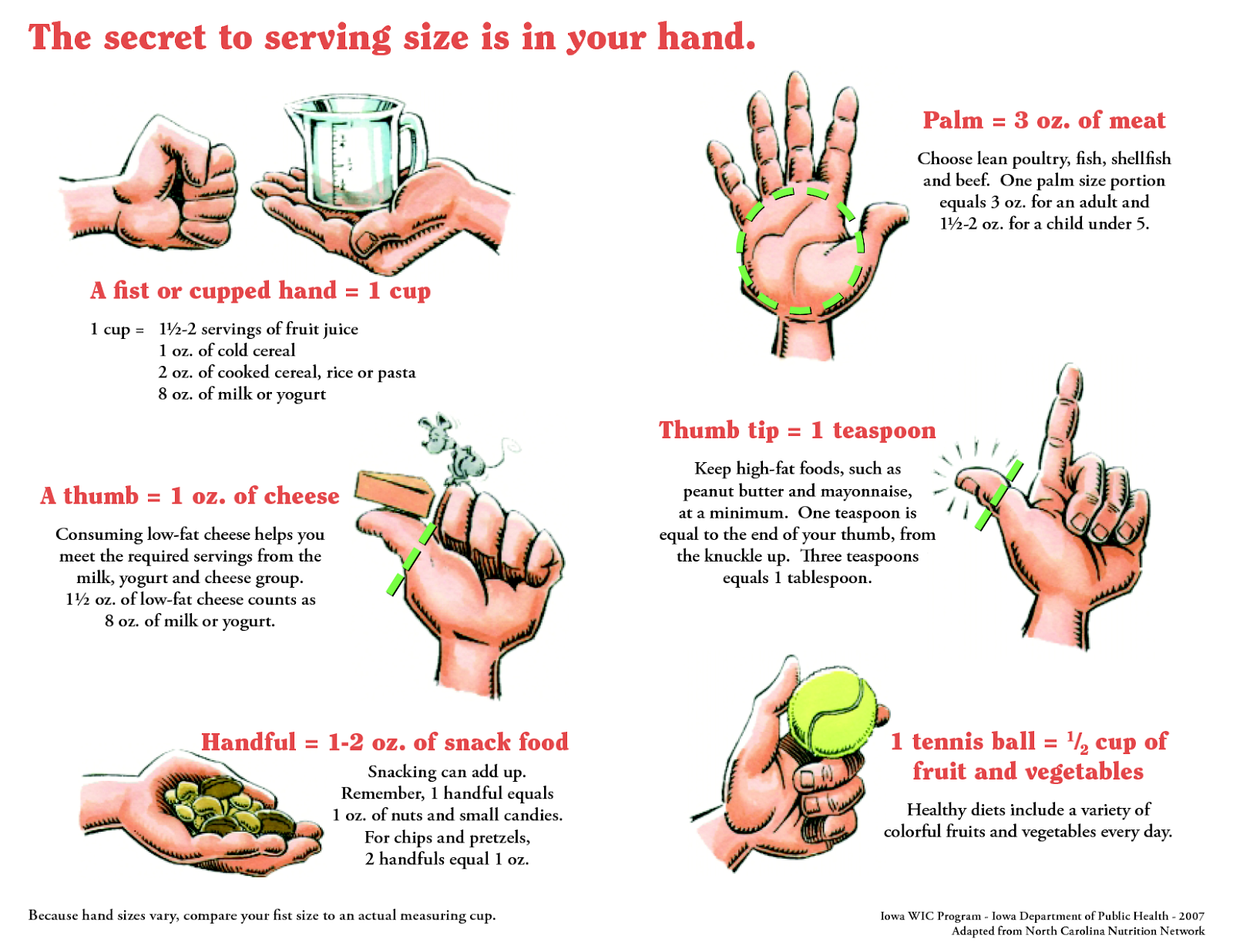 Serving Size The Secret Is In Your Hand Food Digest