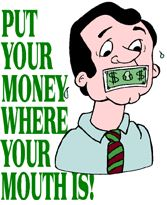 money were mouth is