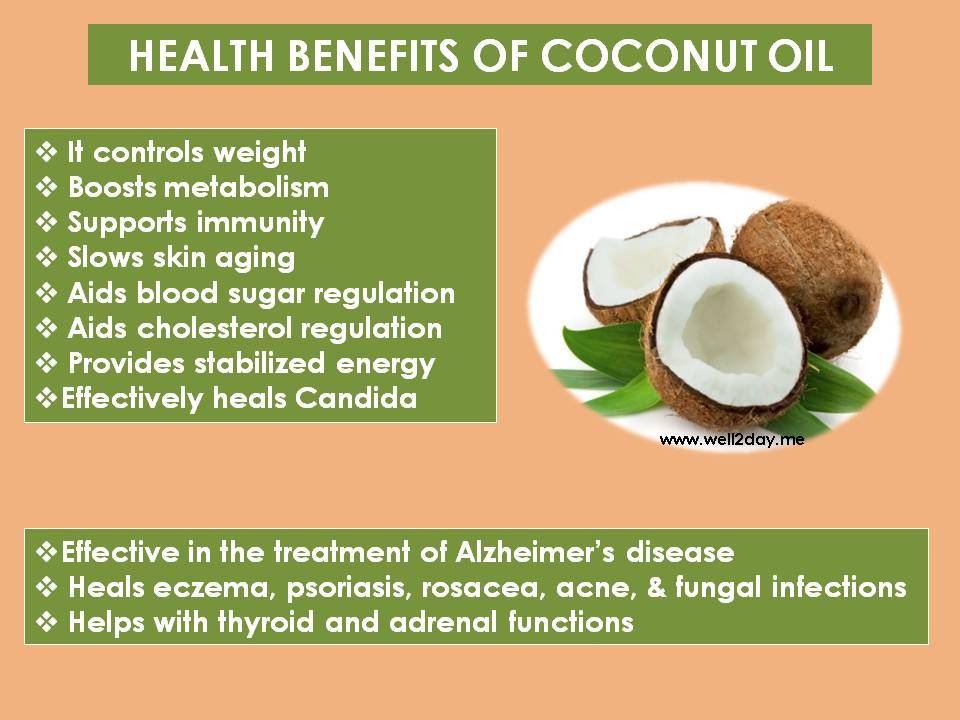 Coconut oil and skin health